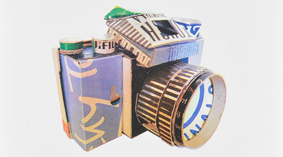 Pinhole Camera made out of recycled materials.